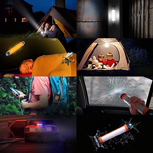JXE JXO LED Camping Light, 6 Light Modes, USB Rechargeable, IP68 Waterproof, Multi-Function Lantern Flashlight with USB Ports for Emergency, Survival Kits, Hiking, Fishing and More