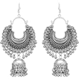 Shreyadzines Designer Afghani Gypsy Tribal Oxidized Jhumka Jhumki Earrings for Women and Girls