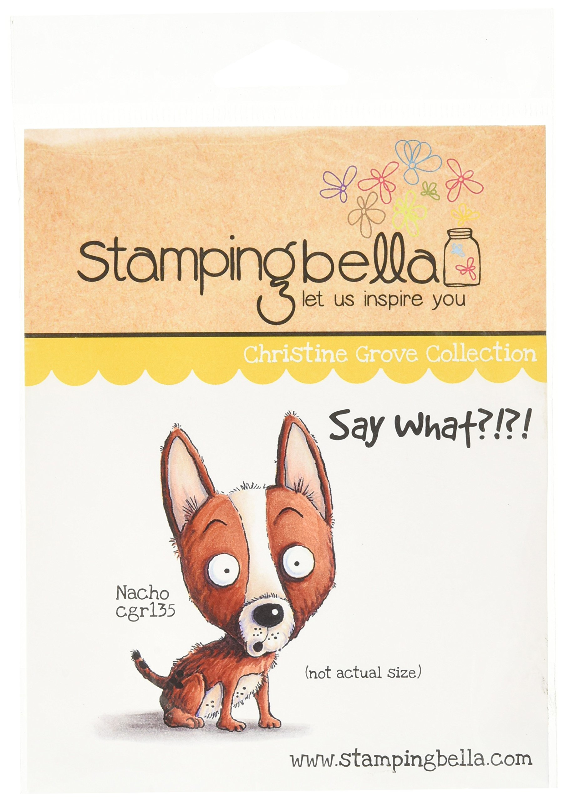 Stamping Bella Nacho Cling Rubber Stamp, 6.5'' x 4.5''