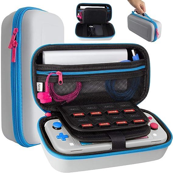 Orzly - Funda para Nintendo Switch Lite, Funda de Transporte de Viaje para Consola Switch Lite, Adaptador de Corriente, Juegos y Otros Accesorios: Amazon.es: Electrónica