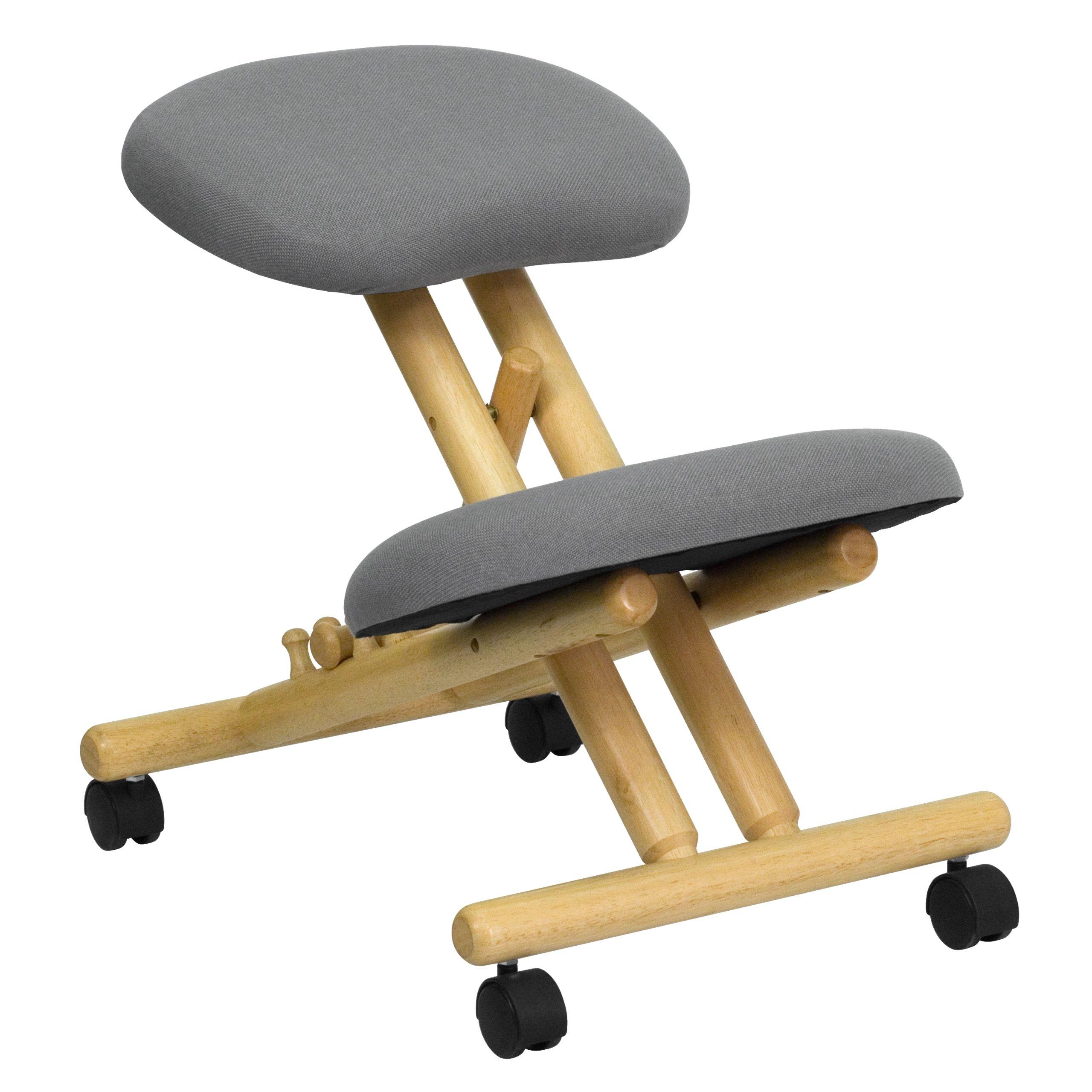 Flash Furniture Wooden Ergonomic Kneeling Posture Office Chair, Gray, WL-SB-101-GG by Flash Furniture