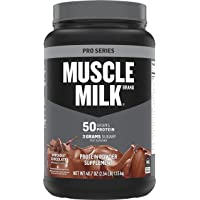 Muscle Milk Pro Series Protein Powder, Knockout Chocolate, 50g Protein, 2.54 Pound, 14 Servings