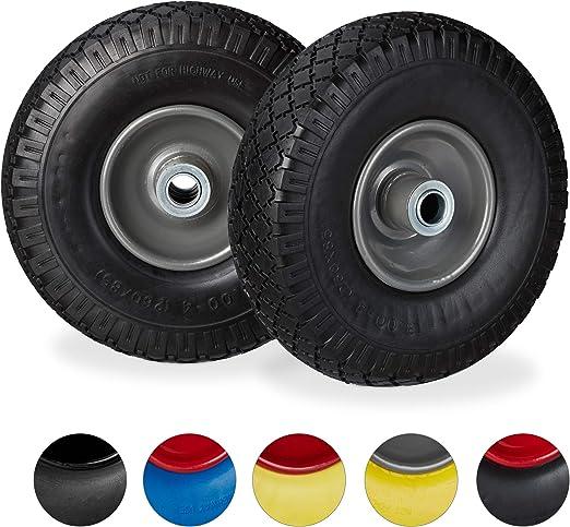 in gomma espansa colore: Blu diametro 15,5 cm 2 pezzi Ruote per carrello ricambio per carrello SagaSave
