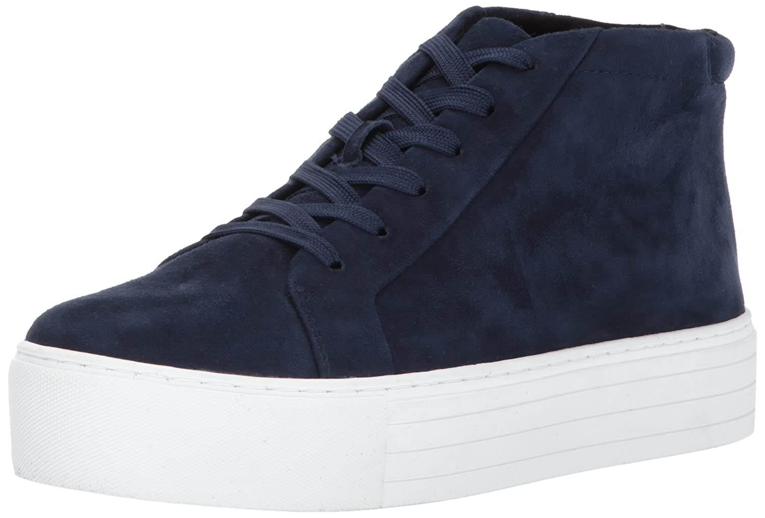 Kenneth Cole New York Women's Janette High Top Lace up Platform Patent Fashion Sneaker B06ZY24LML 9 M US|Navy