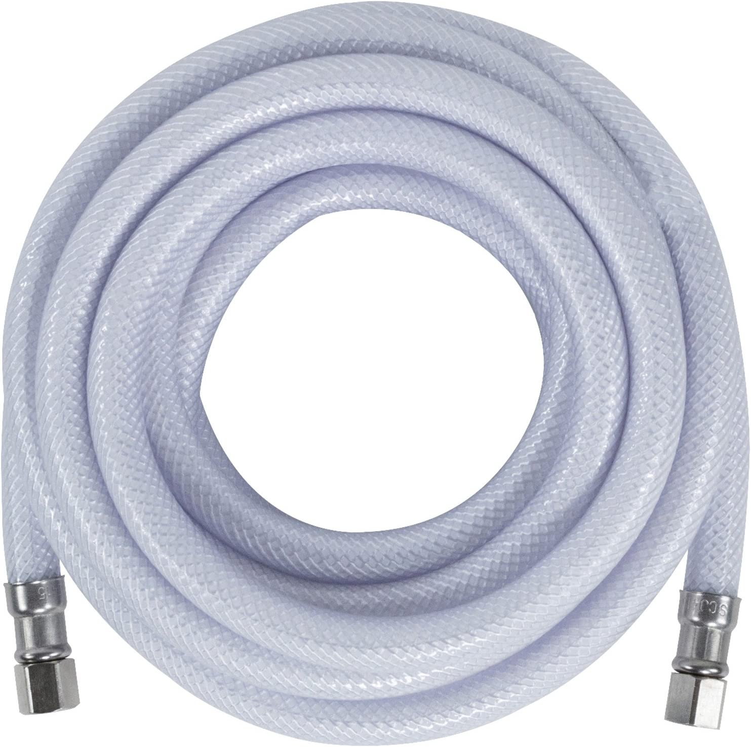 Certified Appliance Accessories Ice Maker Water Line, 15 Feet, Polyester-Reinforced PVC, White