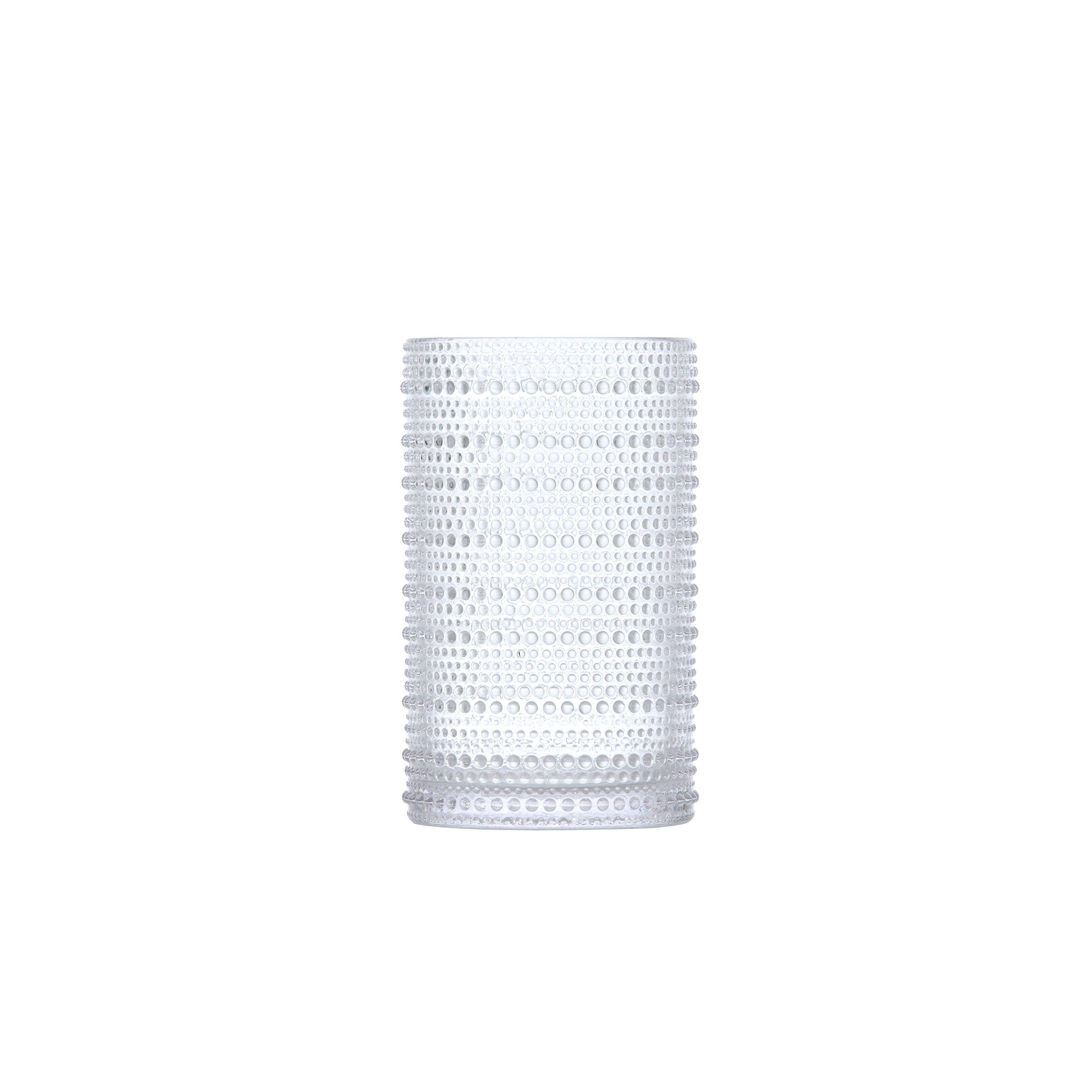 D&V Jupiter Glass Collection Iced Beverage, 13 Ounce, Clear, Set of 6
