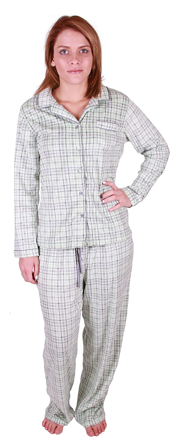 Aria Collection Womens Sueded Microfleece 2-Piece Pajama Set at Amazon Womens Clothing store: