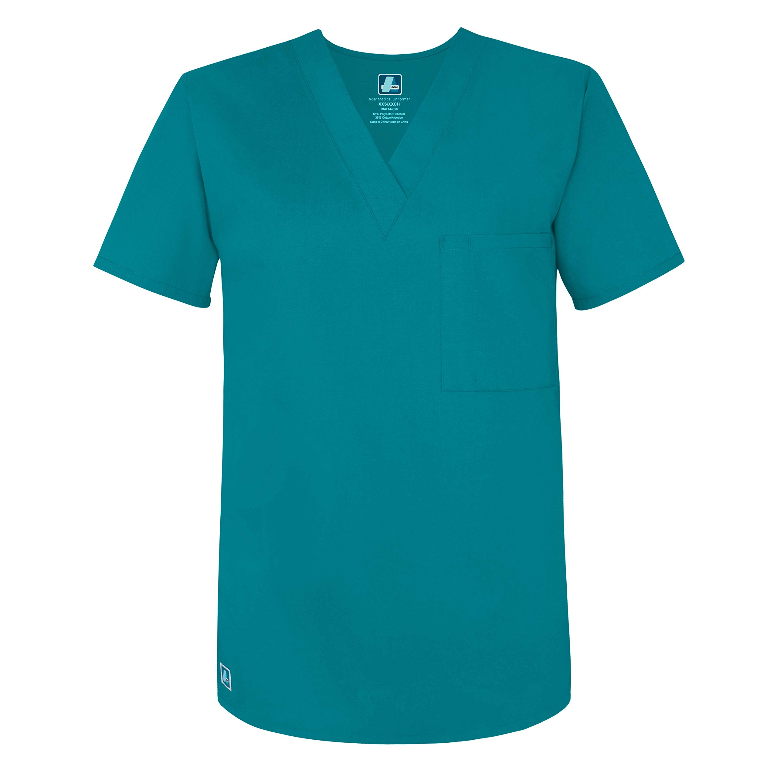 9f5bbd6f647 Adar Universal Unisex V Neck Tunic 1 Pocket (Available in 16 Colors) - 6011  - Teal Green - XS