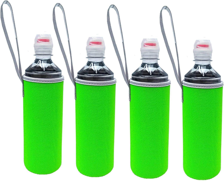 500Ml Neoprene Water Bottle Sleeve Water Bottle Holder Neoprene Carrier Cooler//Sleeve//bag//Coolie//Holder//Huggie M1 Blk+Navy 4 Pack