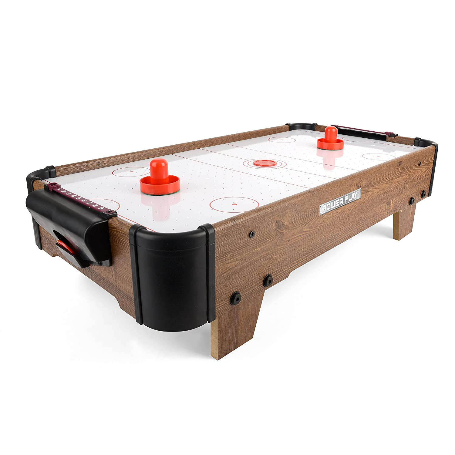 Power Play Table Top Air Hockey Game, 20 Inch Toyrific TY5895DB
