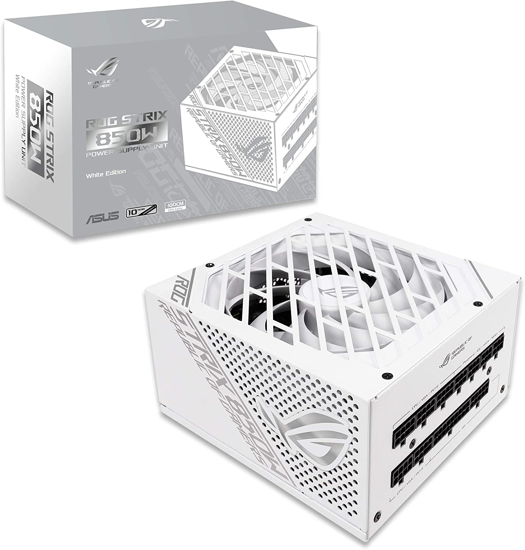 ASUS ROG-STRIX-850G-WHITE White Edition - Fuente de alimentación (Interna) ATX12V - 80 Plus Gold - CA 100-240 V - 850 W - Blanco: Amazon.es: Informática