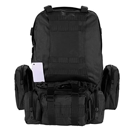 553305a4a338 55L Waterproof Detachable Multifunctional Outdoor Mountaineering Backpack  Molle Military Tactical Assault Backpack Rucksack Bag for Hiking Camping  Trekking ...