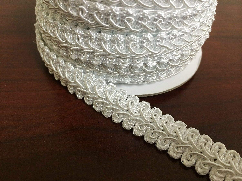 HOT Pink nnLG14 2 Yard 5//8 French Gimp Braid Trim Ribbon Scrapbooking Wedding Decoration 12 Colors