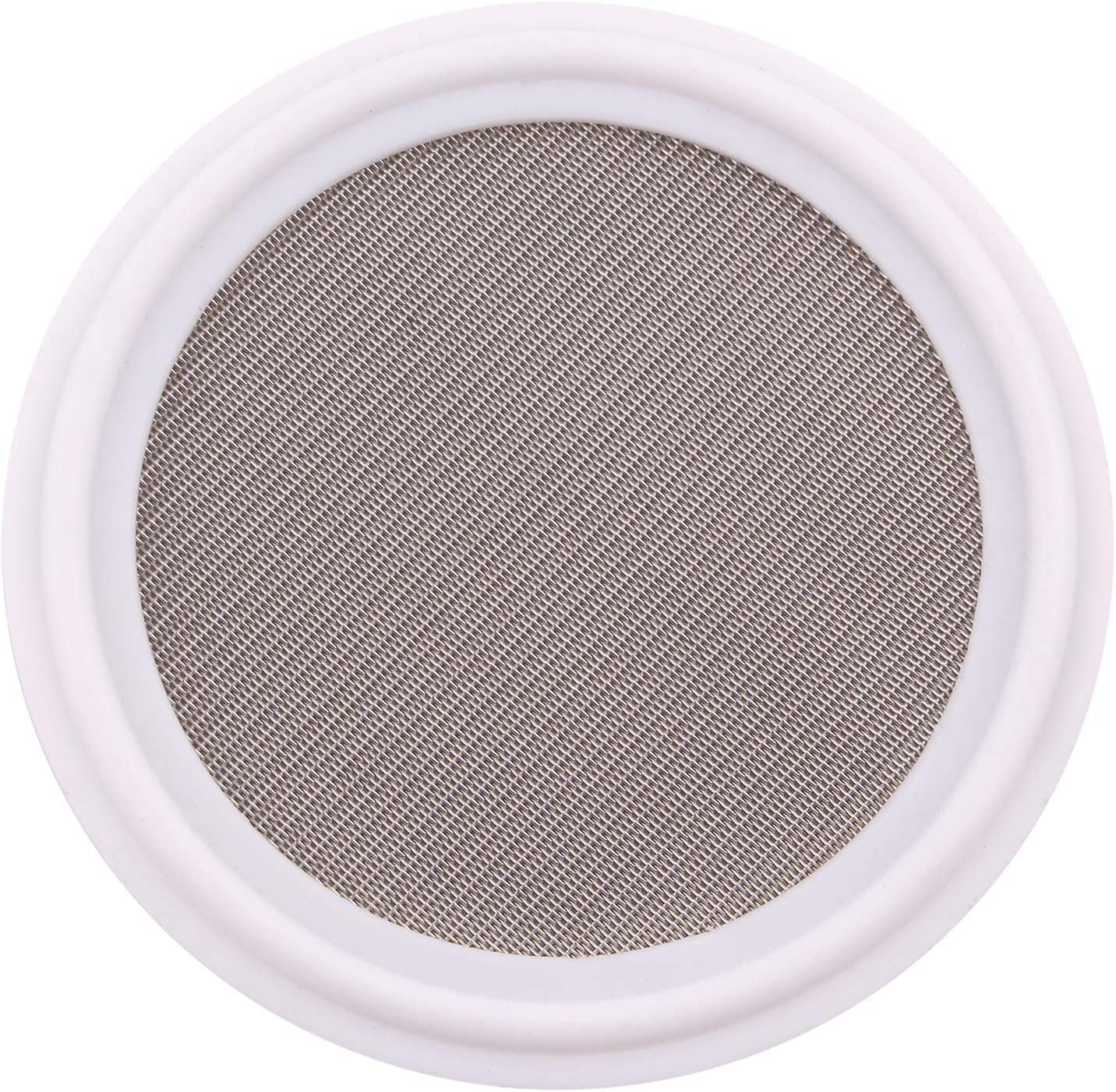"""2/"""" w// 100 Mesh Sanitary PTFE Tri-Clamp Screen Gasket,Stainless Steel SS304L"""