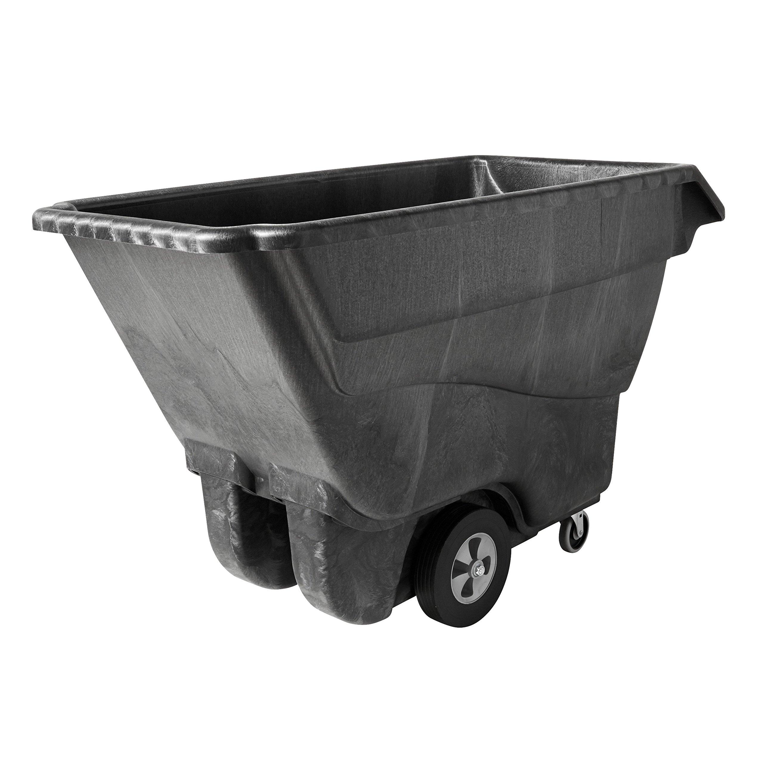 Rubbermaid Commercial FG9T1500BLA Structural Foam Dump Truck, Black, 1250 lbs Load Capacity, Black