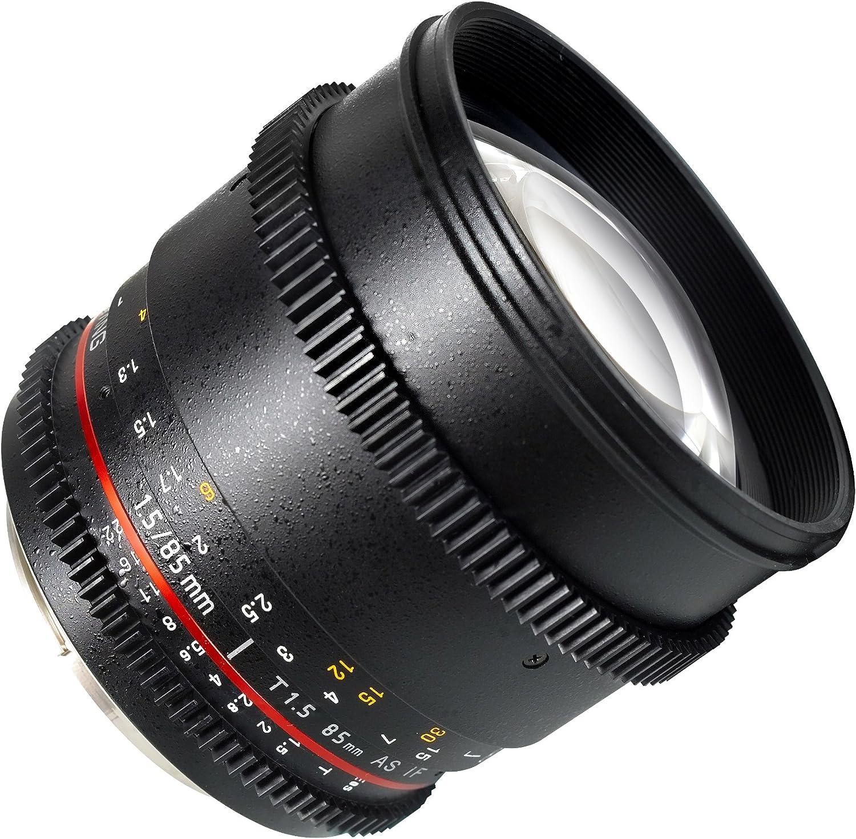 Samyang Cine SYCV85M-MFT 85mm T1.5 Cine Aspherical Lens for Micro Four-Thirds 85-85mm Fixed Lens for Olympus//Panasonic Micro 4//3 Cameras