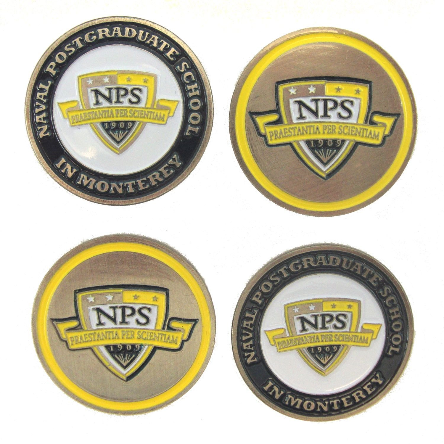 Naval Postgraduate学校Golf Ball Markers ( 4 Pack )   B07934XB8M