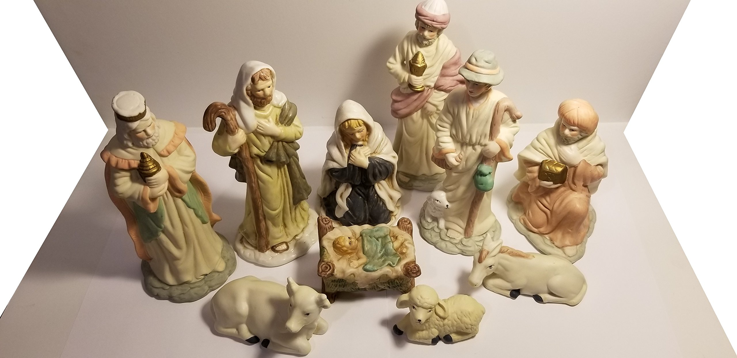 Frank's Nursery & Crafts Nativity Set with 10 Porcelain Figures