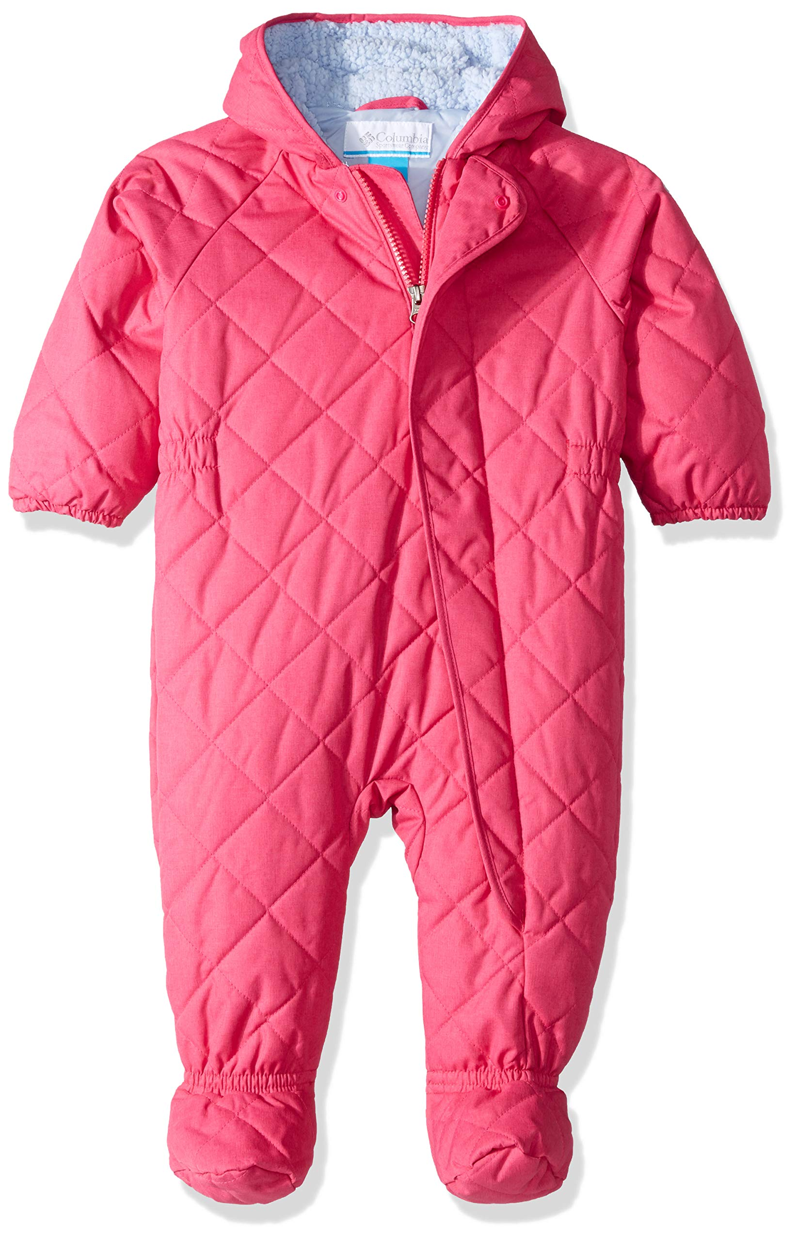 Columbia Unisex Baby Infant Meet Cute Bunting, Cactus Pink Heather, 0/3 by Columbia