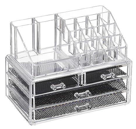 c4d62ec2b Feibrand Organizador Maquillaje Caja Cosméticos Transparente Acrílico 20  Compartimentos