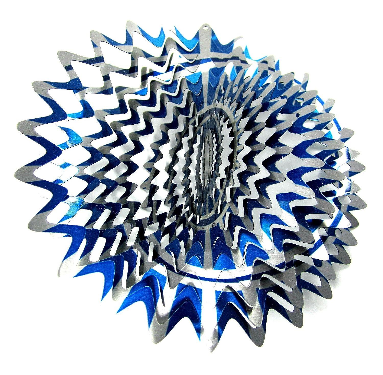 (30cm Inch, Blue Inch,/ Blue Silver 3D Lunar) - WorldaWhirl Whirligig 3D Wind Spinner Hand Painted Stainless Steel Twister Star (30cm Inch, Multi Colour Blue Silver) B06WRNRDZS, シコタングン:9f8409bd --- artmozg.com