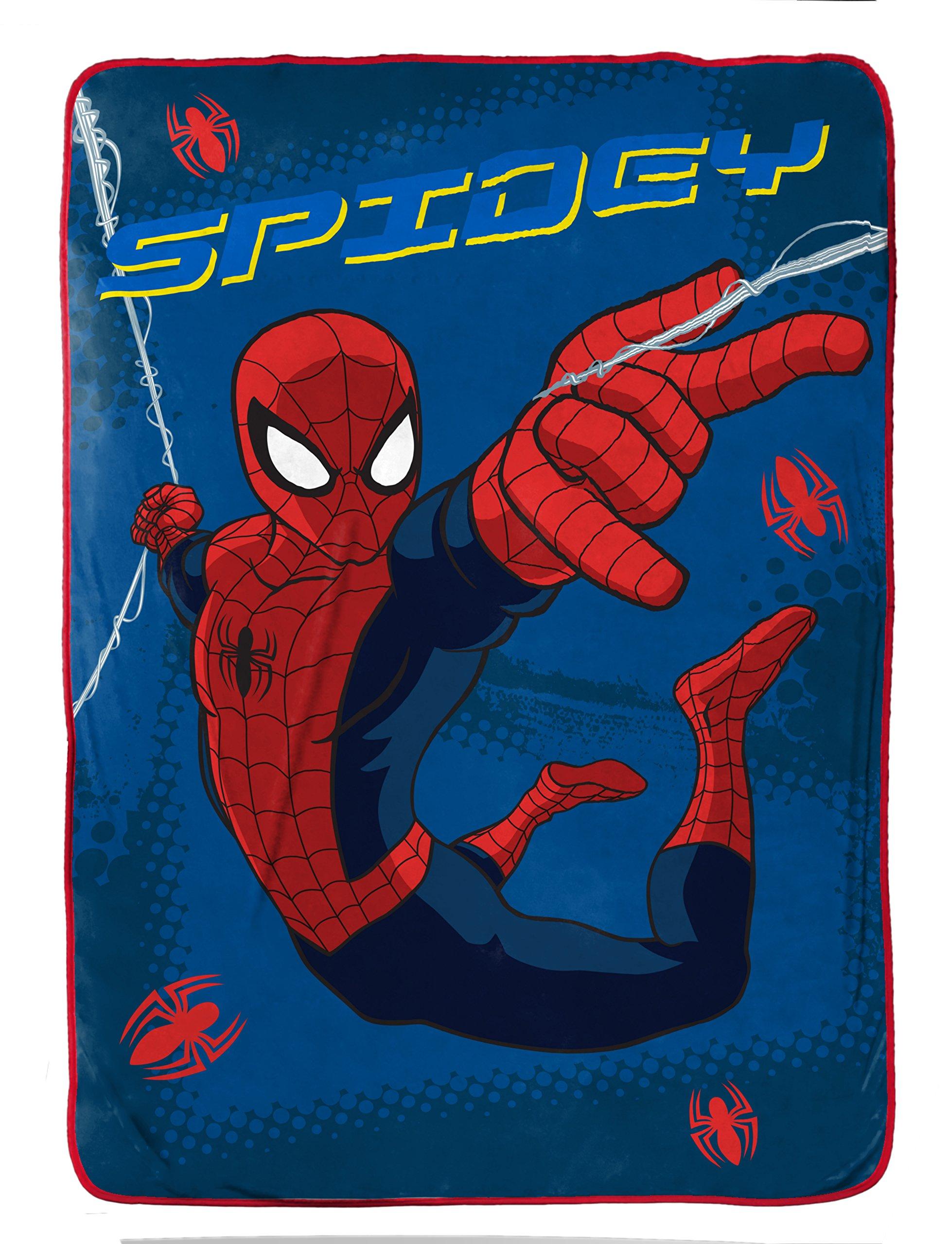 Marvel Spiderman 'Graphic' Plush Fleece 62'' x 90'' Twin Blanket