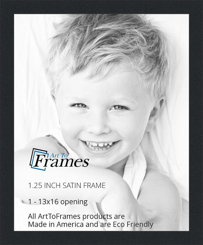 Amazon.com - ArtToFrames 13x16 inch Satin Black Picture Frame ...