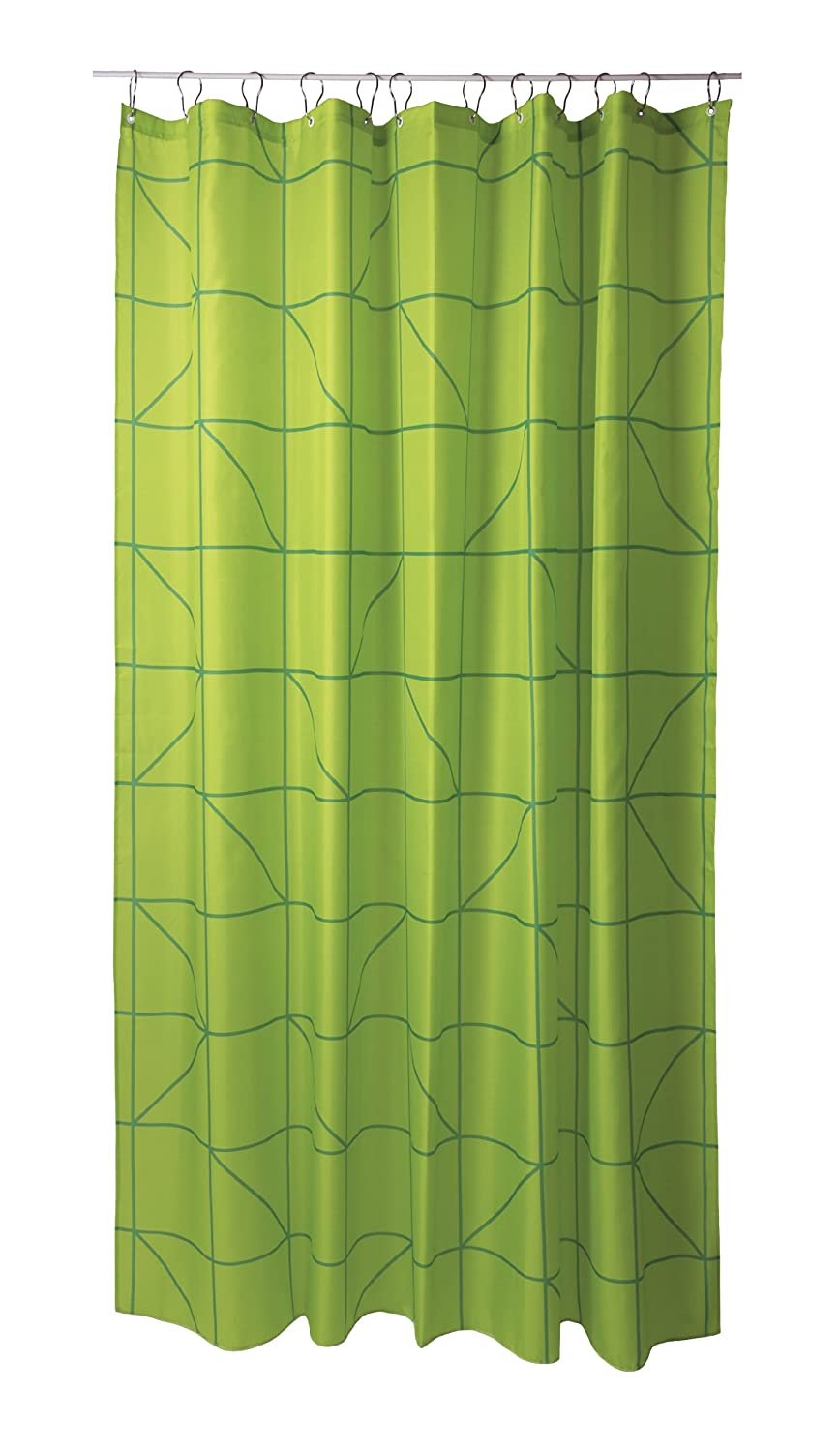 Lines Shower Curtain LIME GREEN zone