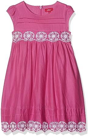s.Oliver s.Oliver Mädchen Kleid Kurz 53.704.82.2640, Rosa (Pink 4428 ... dc3ceb7dc0