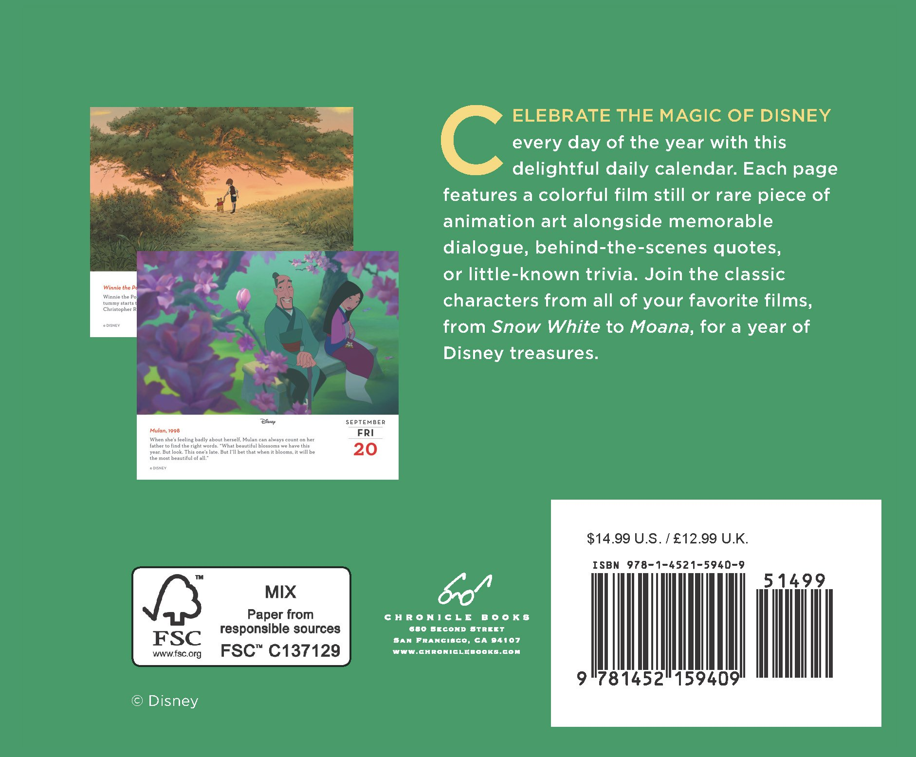 Disney 2019 Daily Calendar by Chronicle Books