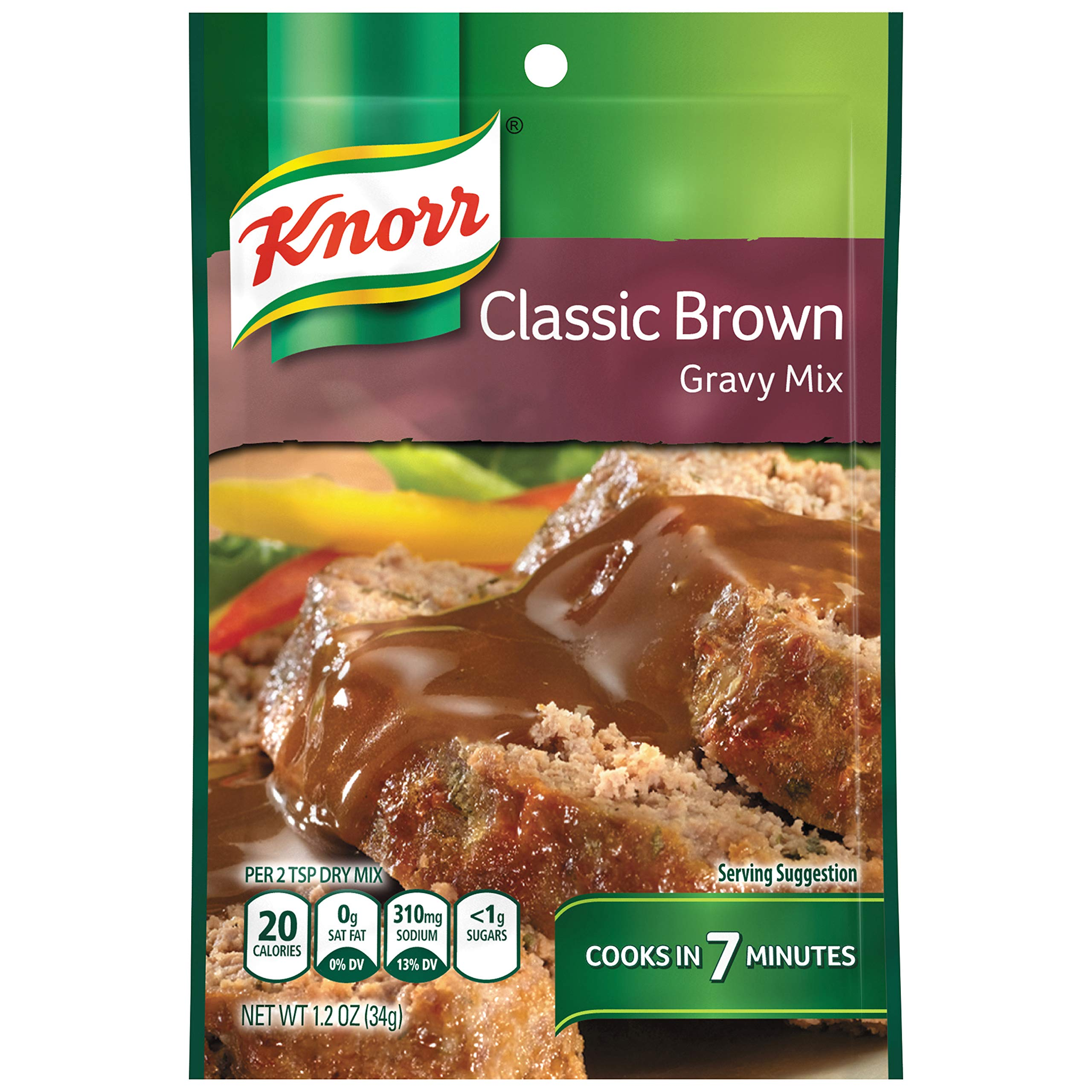 Knorr Gravy Mix, Classic Brown, 1.2 oz