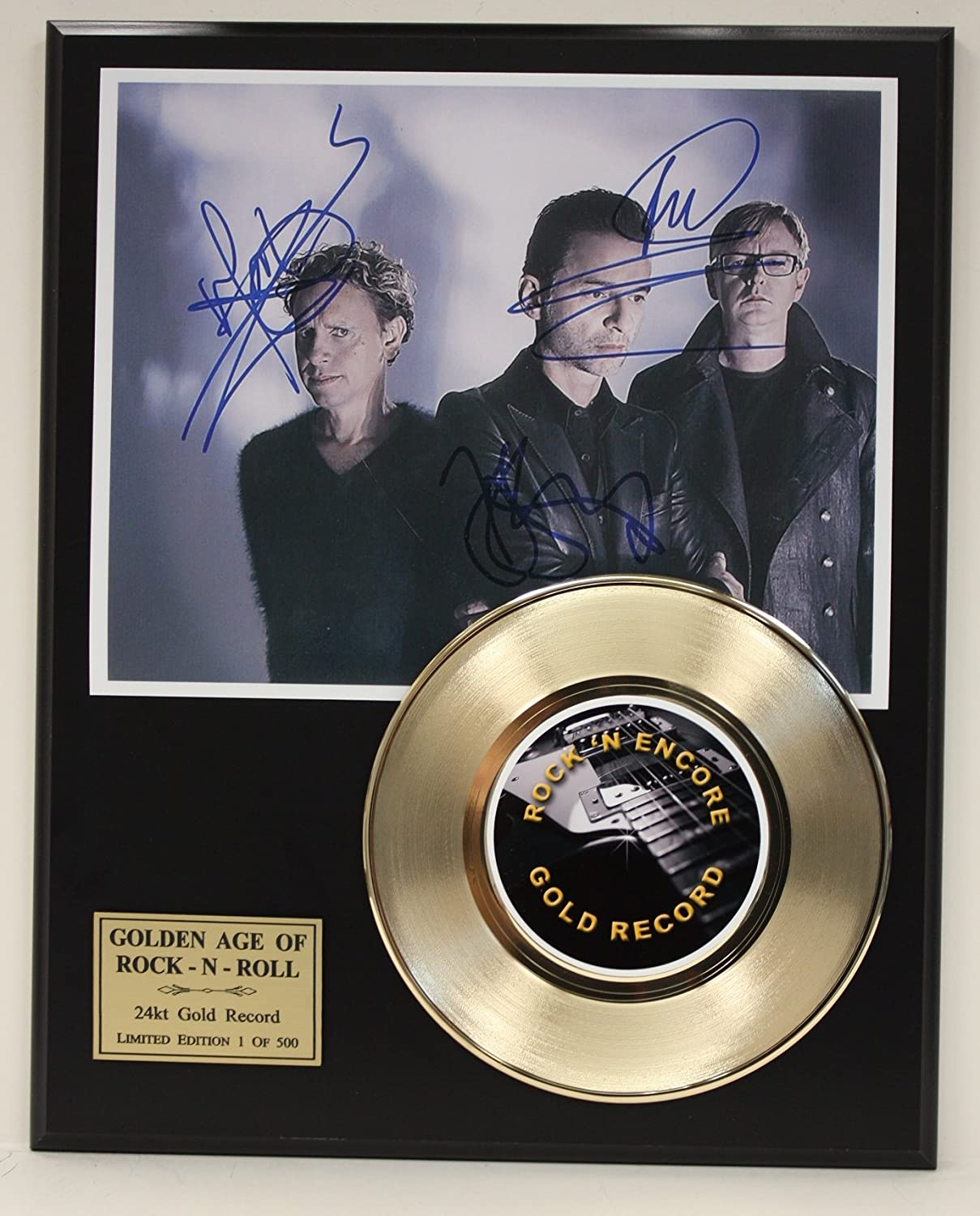 Depeche Mode Gold Record Signature Series LTD Edition Display Gold Record Outlet