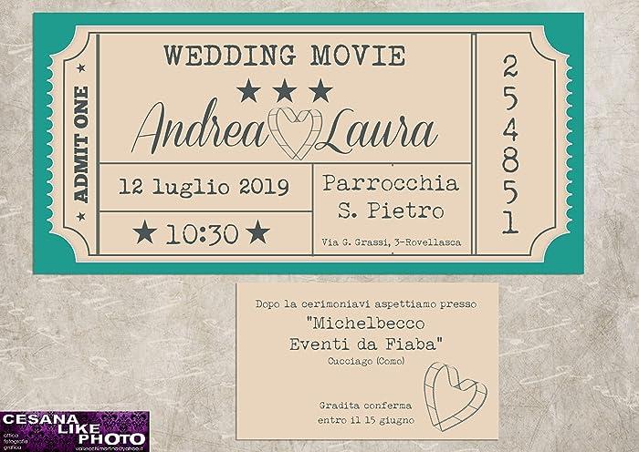 programma grafica biglietto lista nozze