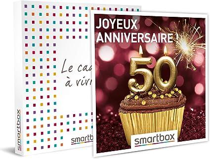 Smartbox Coffret Cadeau Femme Homme Joyeux Anniversaire Pour Femme 50 Ans Idee Cadeau Anniversaire 1 Sejour Ou 1 Activite Pour 1 Ou 2 Personnes Amazon Fr Sports Et Loisirs