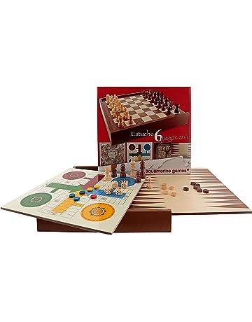 Aquamarine Games - 6 Juegos clásicos: ajedrez, Damas, Backgammon, oca, parchís