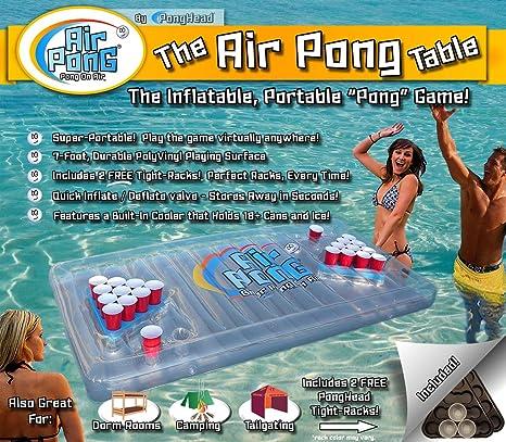 El Aire Pong, hinchable flotante de enfriador de Pong de Cerveza ...
