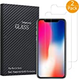 iPhone X Screen Protector, 2 Pack Tempered Glass Anti-fingerprint High Light Penetration Hardness Anti-scratch Bubble Free