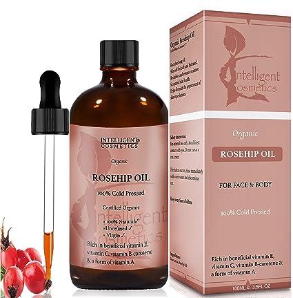 Bio hagebuttenkernöl, Rosehip Oil, color rosa canina 100 ...