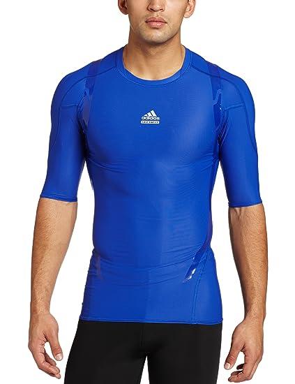 1b59569feff8 Amazon.com: adidas Men's Techfit Powerweb Short-Sleeve Tee, Cobalt ...