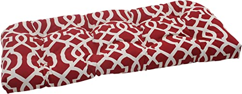 Pillow Perfect Outdoor/Indoor New Geo Tufted Loveseat Cushion