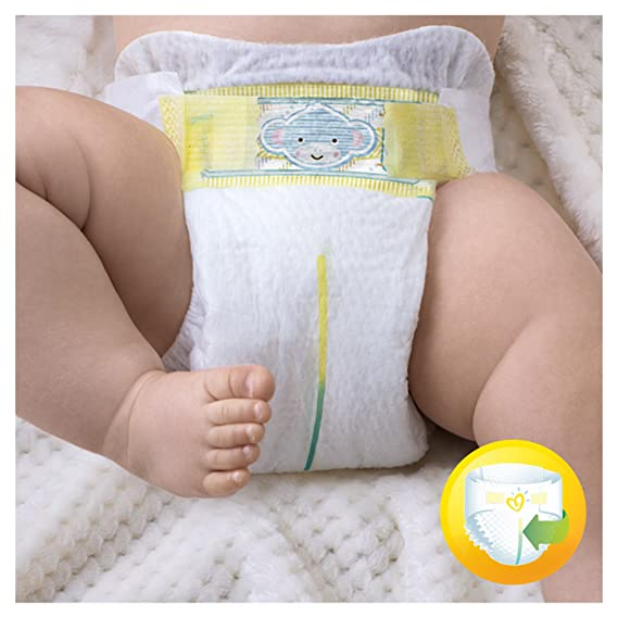 Pampers - New Baby - Pañales - Talla 0 (1-2.5 kg) - 6 x 24 pañales: Amazon.es: Salud y cuidado personal