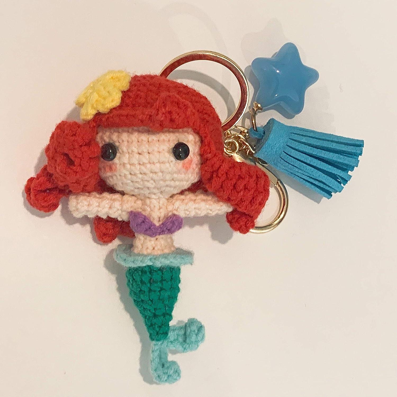 Amazon Crochet Keychain Little Mermaid Keychain Princess