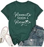 Mamacita Needs a Margarita T-Shirt Women Funny Letter Print Tees Mamacita Graphic Casual Top Shirt