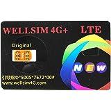 WELLSIM 4G+ 【自動解除】【音声通話/4G-LTE通信対応】 SIMロック解除アダプタ 4G+ Au、SoftBank、DocoMoのiPhone7/ 7 Plus/ 6S/ 6S Plus/6/6 Plus/ 5S/ 5c/ 5/ se SIM Unlock アンロック SIMフリー E016-W
