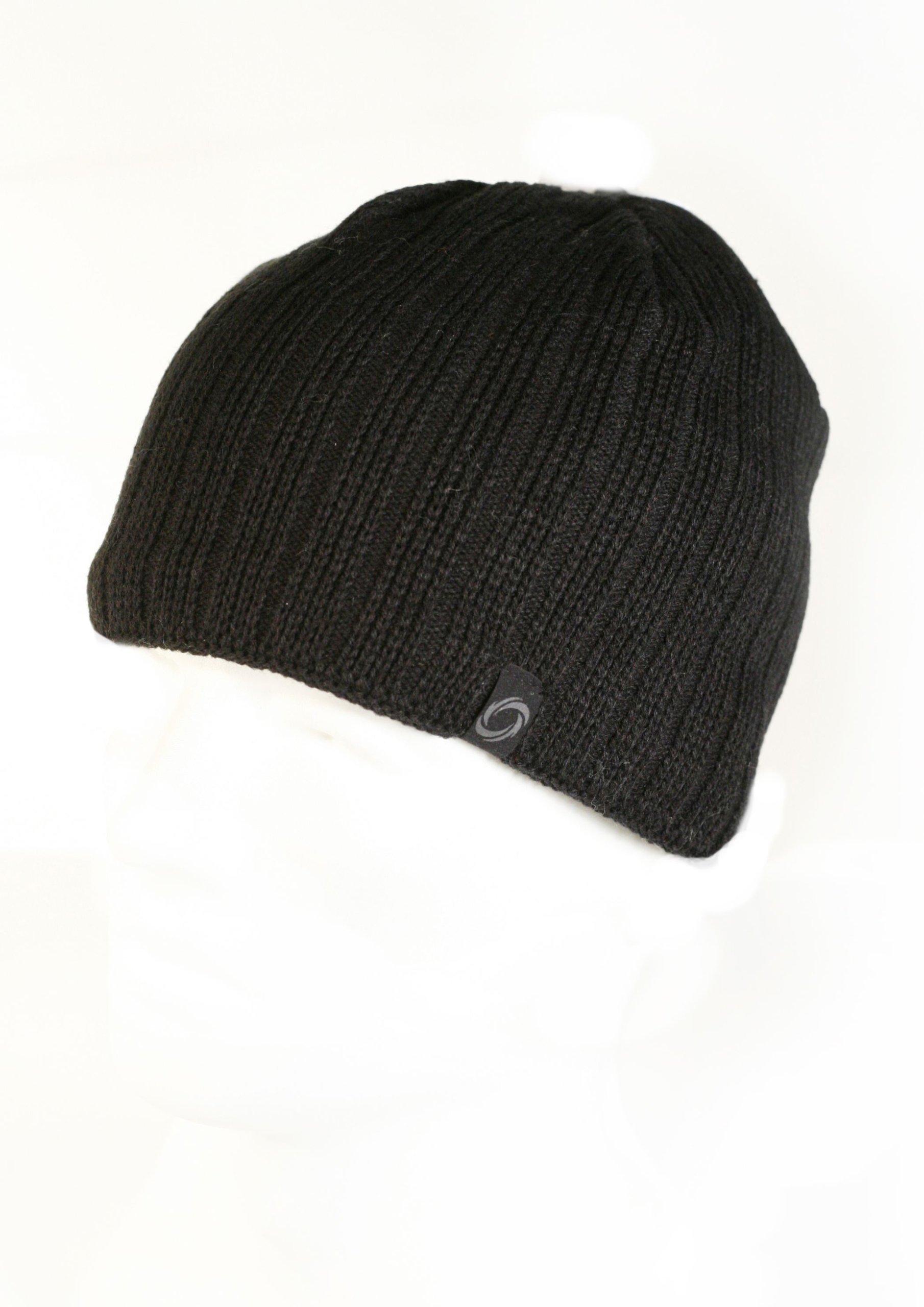 Chaos Hats Men's Technician Fine Gauge Beanie (Black, One Size)