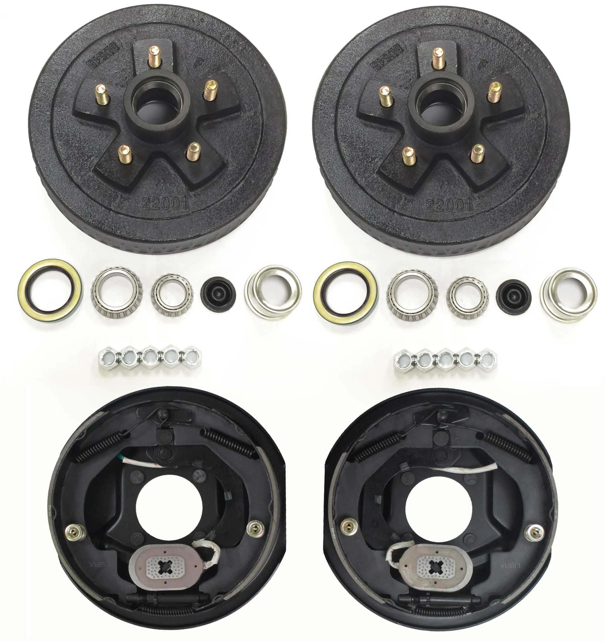 LIBRA Trailer 5 on 4.5'' B.C. Hub Drum Kits with 10'' x2-1/4 Electric Brakes for 3500 Lbs Axle by LIBRA