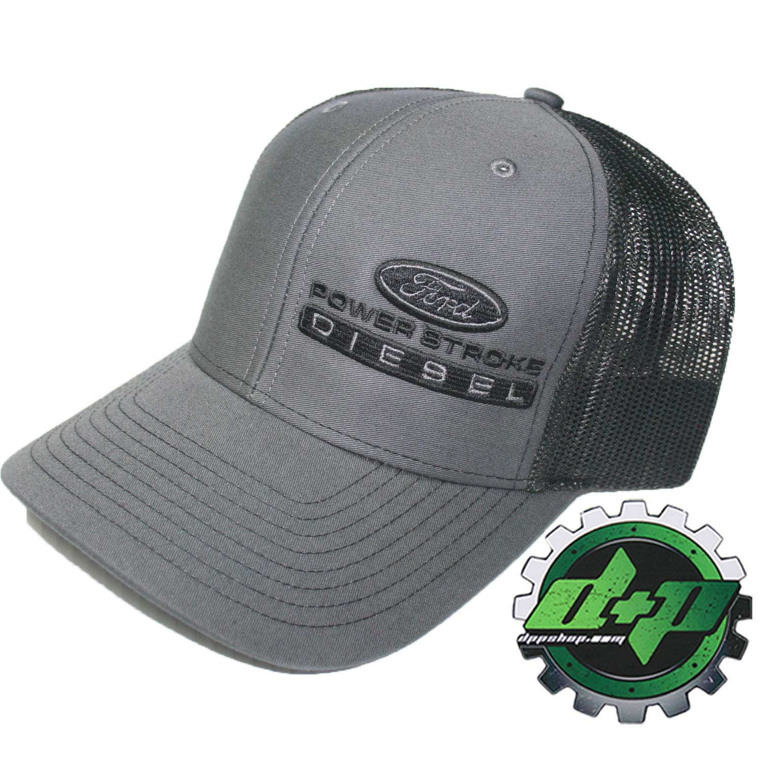 4f7fff07b72ed Amazon.com   Diesel Power Plus Ford Powerstroke Richardson 112 hat Truck  Charcoal Gray Black mesh snap Back   Sports   Outdoors