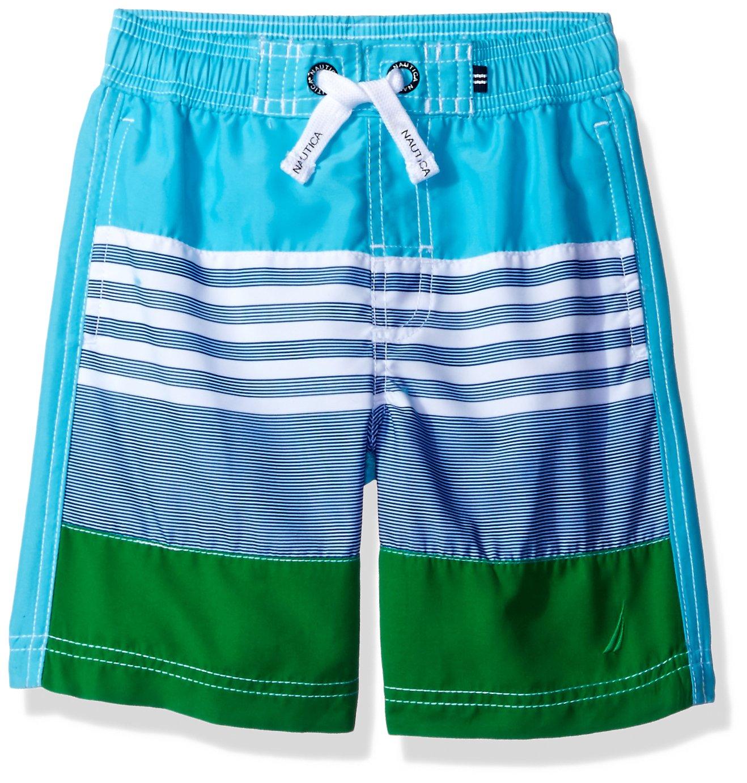 a0c2c9298f Galleon - Nautica Little Boys' Swim Trunk With Upf 50+ Sun Protection,  Turquoise Stripe, Large (7)