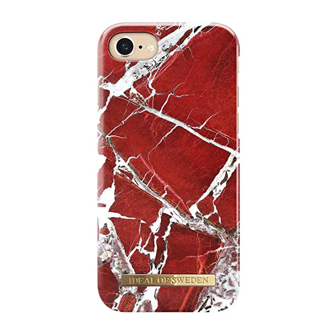 iphone 8 case red marble