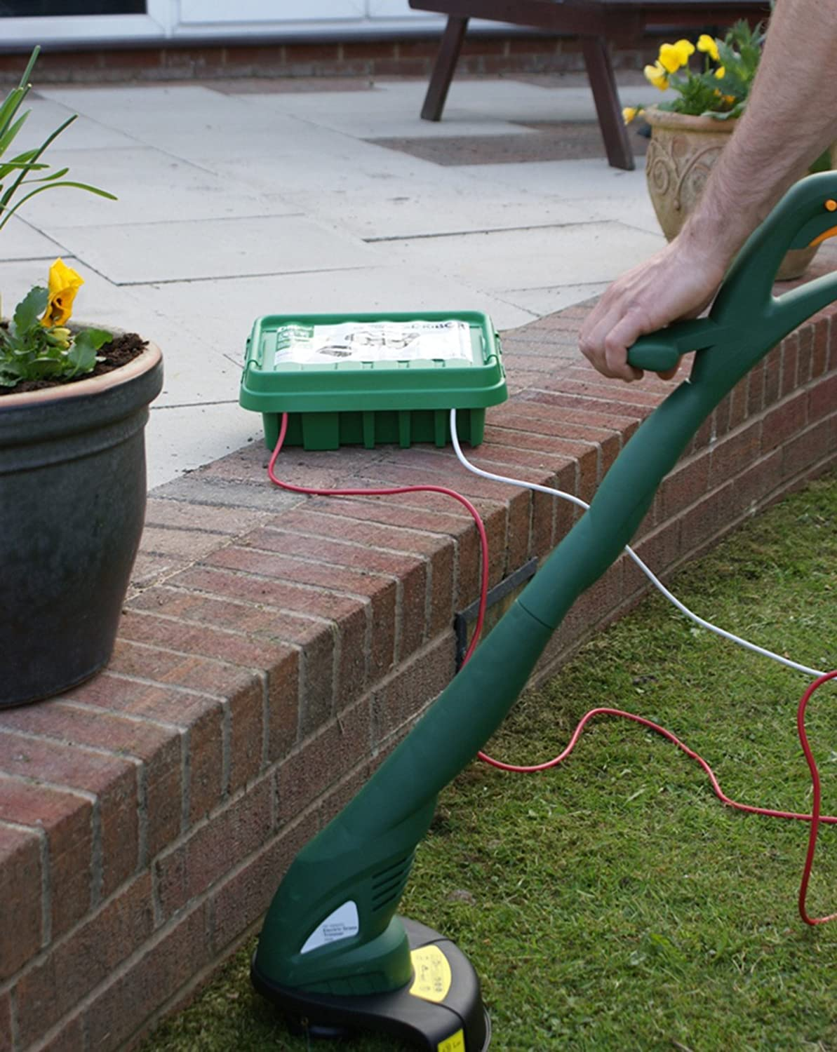 Sockitbox Weatherproof Indoor And Outdoor Electrical Power Cord Run Wires Underground To Reach Sheds Lights Patios Connection Enclosure Box Medium Green